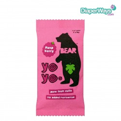 YOYO BEAR PURE FRUIT ROLLS RASPBERRY 20GR (PINK)