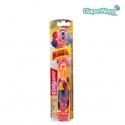 COLGATE POWERED TOOTHBRUSH EXTRA SOFT SPIDERMAN 3+ YEARS (RED)