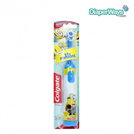 COLGATE POWERED TOOTHBRUSH EXTRA SOFT MINIONS 3+ YEARS (BLUE)