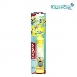 COLGATE POWERED TOOTHBRUSH EXTRA SOFT MINIONS 3+ YEARS (YELLOW)
