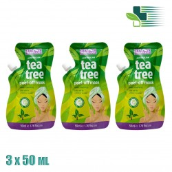 BEAUTY FORMULAS AUSTRALIAN TEA TREE PEEL-OFF MASK 3X50 ML