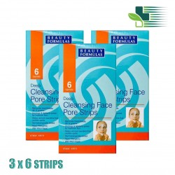 BEAUTY FORMULAS DEEP CLEANSING FACE PORE STRIPS X 3