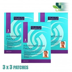 BEAUTY FORMULAS ANTI-WRINKLE EYE GEL PATCHES X 3