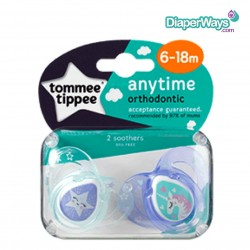 TOMMEE TIPPEE ANY TIME SOOTHERS 6-18 MONTHS (UNICORN)