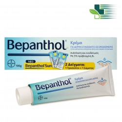 BEPANTHOL CREAM FOR SKIN PRONE TO IRRITATIONS AFTER SUN 100GR + 2 SACHETS (1 FACE + 1 BODY)