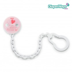 NUK BABY ROSE AND BLUE SOOTHER CHAIN (PINK)