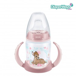NUK DISNEY BAMBI FIRST CHOICE LEARNER BOTTLE WITH SPOUT 150ML 6-18 MONTHS (PINK)