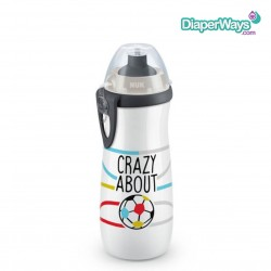 NUK SPORTS CUP WITH PUSH-PULL SPOUT 450ML 36+ MONTHS (CRAZY ABOUT FOOTBALL)