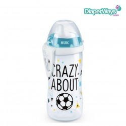 NUK KIDDY CUP WITH SPOUT 12+ MONTHS 300ML (CRAZY ABOUT FOOTBALL)