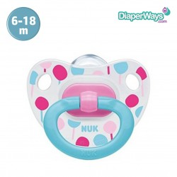 NUK HAPPY DAYS SILICONE SOOTHER 6-18 MONTHS (LOLLIPOPS)