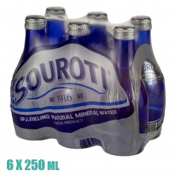 SOUROTI NATURAL CARBONATED MINERAL WATER 6X250ML
