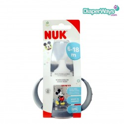 NUK FIRST CHOICE 150ML LEARNER CUP 6-18 MONTHS (MICKEY) GRAY