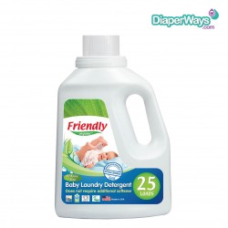 FRIENDLY ORGANIC BABY LAUNDRY DETERGENT PERFUME FREE 739ML (25 WASHES)