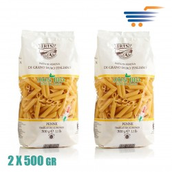 IRIS ORGANIC PENNE MADE WITH DURUM WHEAT 2X500GR