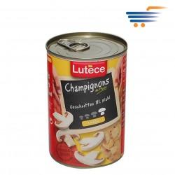 LUTECE CHAMPIGNONS MUSHROOMS SLICED (LARGE) 400GR