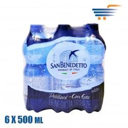 SAN BENEDETTO SPARKLING WATER 6X500ML