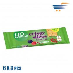 GO AHEAD - FOREST FRUIT CRISPY SLICES (6X3 PCS)