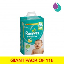 PAMPERS MAXI PACK NO3 (6-10 kg) 116PCS
