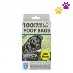 TIDYZ PREMIUM FRAGRANCED POOP BAGS (100 PIECES)