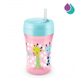 NUK EASY LEARNING CUP FUN 300ML WITH STRAW (PINK)