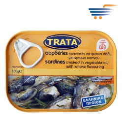 TRATA SARDINES SMOKED IN VEGETABLE OIL WITH SMOKE FLAVOURING 100GR
