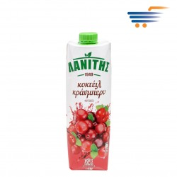 LANITIS COCKTAIL CRANBERRY FRUIT DRINK 1LT