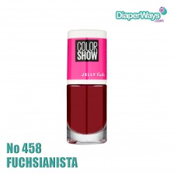 MAYBELLINE COLOR SHOW NAIL POLISH 7ML (No458 FUCHSIANISTA)