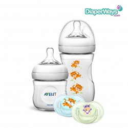 AVENT NATURAL BABY GIFT SET  0+ MONTH  (HIPPOS AND TIGERS)