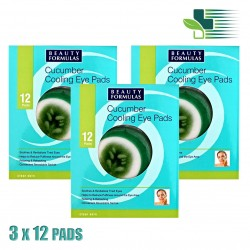BEAUTY FORMULAS CUCUMBER COOLING EYE PADS 3X12 PADS