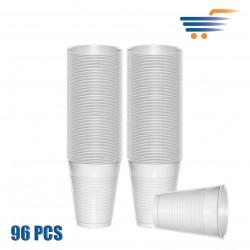 IMB WHITE PLASTIC CUPS (96 PCS)