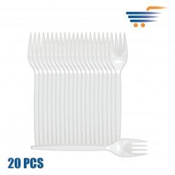 IMB WHITE PLASTIC FORKS (20 PCS)