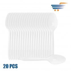 IMB WHITE PLASTIC SPOONS (20 PCS)