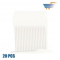 IMB WHITE PLASTIC KNIVES (20 PCS)