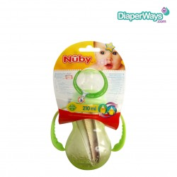NUBY TRAINING CUP WITH DETACHABLE HANDLES 210ML - 4+ MONTHS (GREEN)
