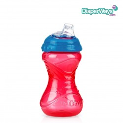 NUBY EASY GRIP CUP NO SPILL 300ML (BLUE AND RED)