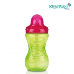 NUBY FLIP-IT CUP WITH STRAW  12+ MONTHS  300ML (PINK AND GREEN)