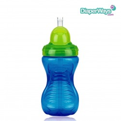 NUBY FLIP-IT CUP WITH STRAW  12+ MONTHS  300ML  (BLUE AND GREEN)