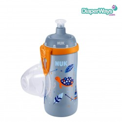 NUK ΠΑΓΟΥΡΑΚΙ FIRST CHOICE JUNIOR CUP ΜΕ ΚΑΠΑΚΙ PUSH-PULL 3+ ΧΡΟΝΩΝ 300ΜΛ  (ΜΠΛΕ ΚΑΙ ΠΟΡΤΟΚΑΛΙ)