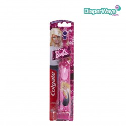 COLGATE POWERED TOOTHBRUSH EXTRA SOFT BARBIE 3+ YEARS (PINK)
