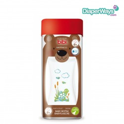 BIBI HAPPINESS BABY BOTTLE 260ML WITH NATURAL TEAT 0+ MONTHS (TURTLE)
