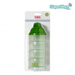 BIBI MILK POWDER DISPENSER WITH 4 CONTAINERS AND 1 FUNNEL