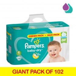 PAMPERS MAXI PACK NO4 (9-14 kg) 102PCS