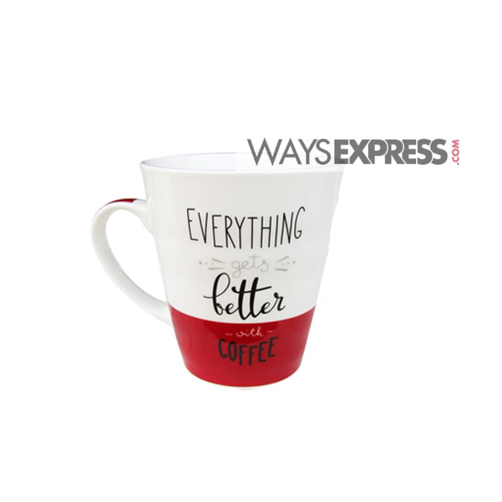 coffee mug quotes white red