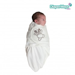 BO JUNGLE B-WRAP SWADDLE BLANKET (LARGE, WHITE PANDA) 4+MONTHS