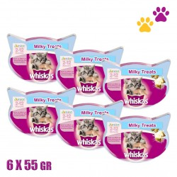 WHISKAS MILKY TREATS 2-12 ΜΗΝΩΝ 6X55GR
