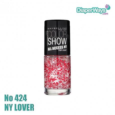 MAYBELLINE COLOR SHOW NAIL POLISH 7ML (No424 NY LOVER)