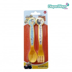 DESPICABLE ME CUTLERY SET 3+ YEARS (YELLOW)