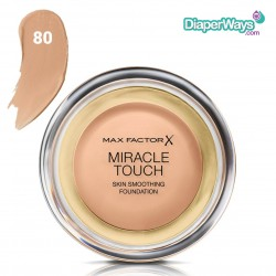 MAX FACTOR MIRACLE TOUCH SKIN SMOOTHING FOUNDATION (BRONZE 80)