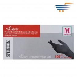 GLOVE POWDER FREE NITRILE EXAMINATION GLOVES 100PCS (MEDIUM)