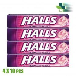 HALLS ΚΑΤΑΠΡΑΫΝΤΙΚΕΣ ΚΑΡΑΜΕΛΕΣ ΜΕ ΓΕΥΣΗ ΦΡΟΥΤΑ ΤΟΥ ΔΑΣΟΥΣ 4X10 ΤΕΜΑΧΙΑ (ΜΟΒ)